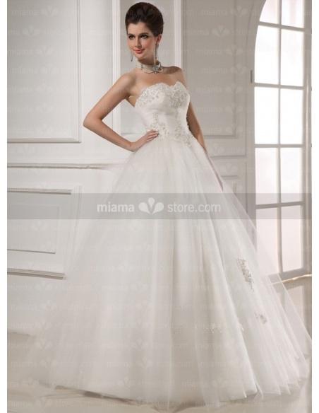 CORNELIA - A-line Ball gown Sweetheart Floor length Tulle Wedding dress