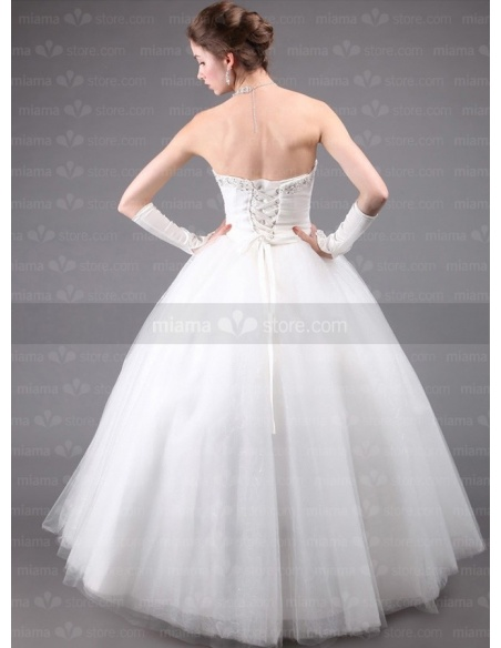 CYNTHIA - A-line Ball gown Strapless Floor length Tulle Wedding dress