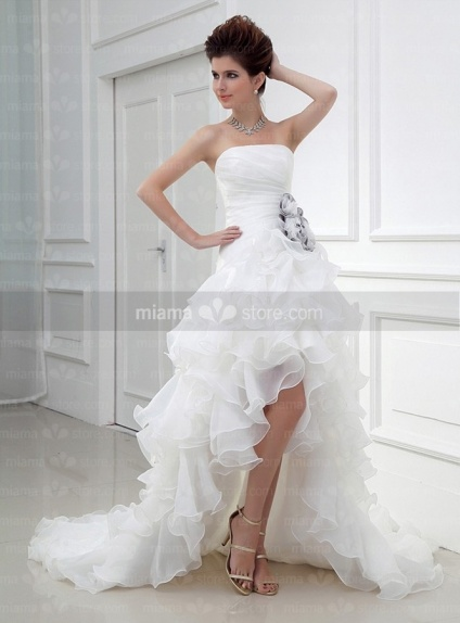 DAISY - A-line Strapless Chapel train Tulle Wedding dress