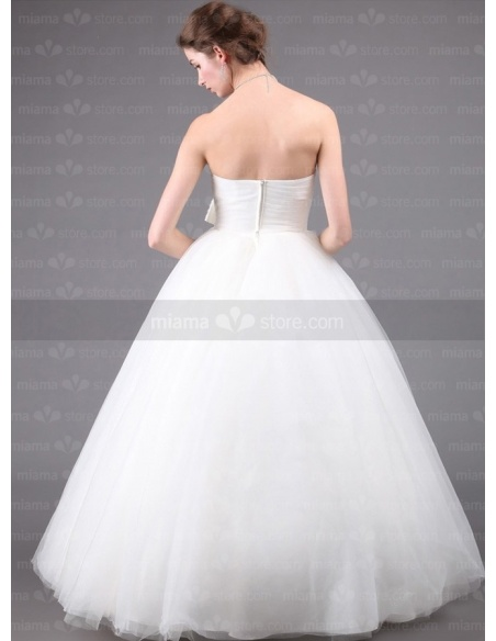 DANA - A-line Ball gown Strapless Floor length Tulle Wedding dress