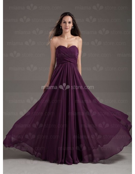 ALIA - Bridesmaid Cheap Princess Floor length Chiffon Sweetheart Wedding party dress
