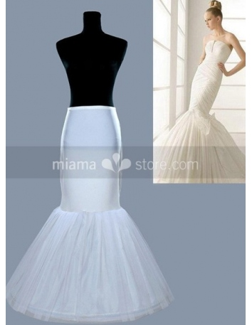 Tulle Taffeta Mermaid and Trumpet gown slip 1 Tiers Wedding petticoat