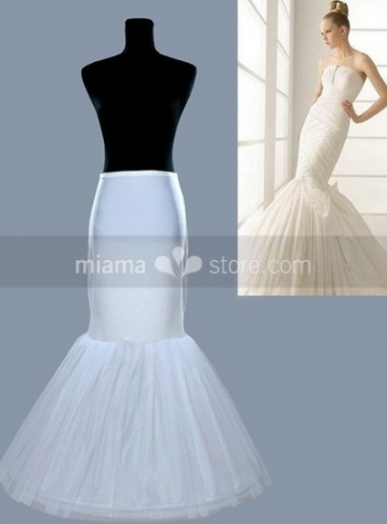 Tulle taffeta mermaid and trumpet gown slip 1 tiers for Mermaid slip for wedding dress