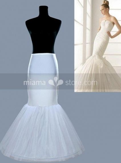 Tulle Taffeta Mermaid and Trumpet gown slip 1 Tiers Wedding petticoat