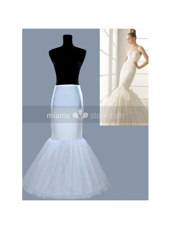 Tulle taffeta mermaid and trumpet gown slip 1 tiers for Tulle petticoat for wedding dress