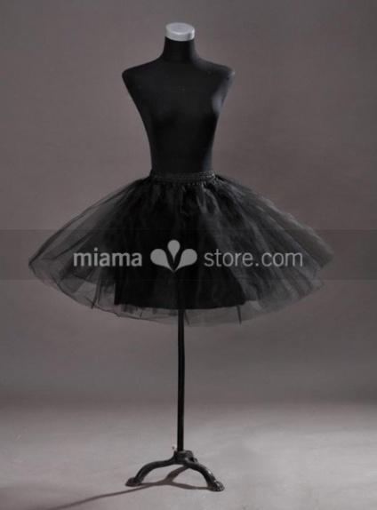 Tulle Taffeta A-Line slip Half slip 3 Tiers Wedding petticoat