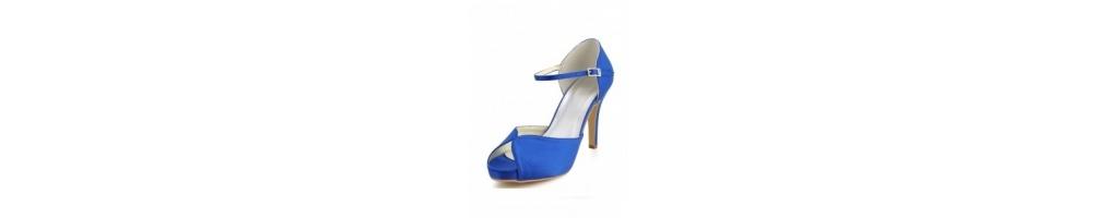Scarpe Tacco Basso Blu Elettrico