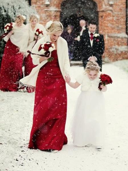 abiti da sposa rossi