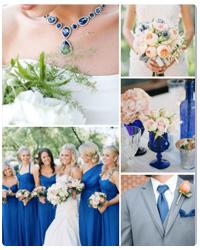 matrimonio tema blu